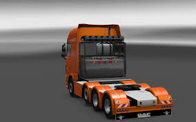 volvo heavy haulage trucks for sale heavy haulage chassis for daf xf euro 6 scs 1 28 x ets 2