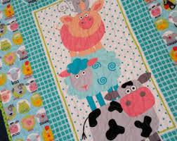 Farm Animals Crib Bedding by Farm Animals Nursery Etsy