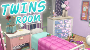 the sims 4 parenthood twin girls bedroom speed build youtube