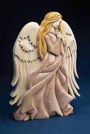 Wise Decor by This Freestanding Intarsia Angel By Kathy Wise Is A Divine