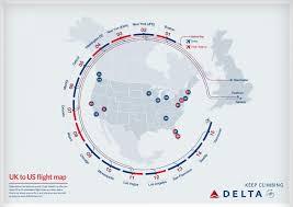 Jfk Map Uk To Us Flight Map Visual Ly