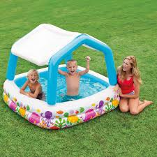 Backyard Blow Up Pools by Sun Shade Inflatable Pool Pools For Home