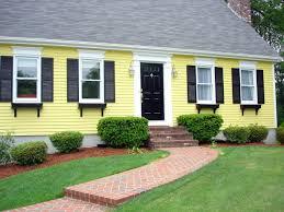 yellow exterior paint scheme home decorating pinterest