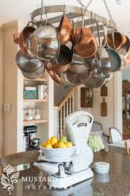 Kitchen Island With Pot Rack Hanging The Pot Rack Miss Mustard Seed