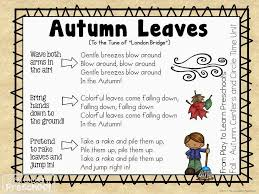 Preschool Songs For Thanksgiving Autumn Leaves Circle Time Song For Preschoolers Fall