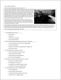 reading comprehension test for grade 4 sixth grade reading comprehension test homeshealth info