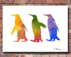 Items Similar To Art Print - items similar to penguin 6x4 art print available in pink