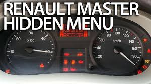 how to enter hidden menu in renault master service test mode