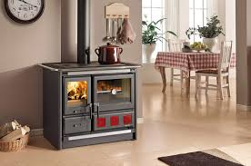 poele à cuisiner la cuisinière à bois pour cuisiner et chauffer votre pièce