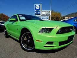 Green Mustang With Black Stripes 2013 Ford Mustang For Sale Carsforsale Com