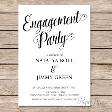 Engagement Card Invitations Modern Calligraphy Engagement Party Invitation Calligraphy