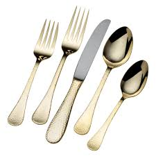 Flatware Sets by Buy Mila Gold Plated 45 Piece Flatware Set Online At Mikasa Com