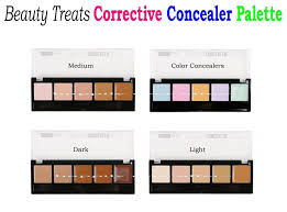 color concealer beauty treats corrective concealer palette available in 4 color
