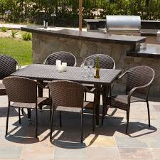 All Weather Wicker Patio Dining Sets by Zumba All Weather Wicker Patio Dining Set Walmart Com