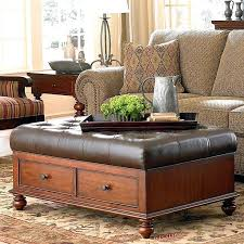 Leather Ottoman Coffee Table Rectangle Leather Ottoman Coffee Table Black Leather Ottoman Coffee Table
