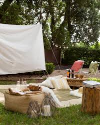 backyard projector ideas home outdoor decoration