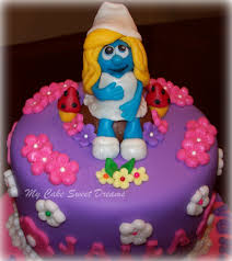 smurfette cake favorite recipes pinterest smurfette cake