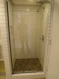 new small bathroom designs with shower stall and glaass mosaic