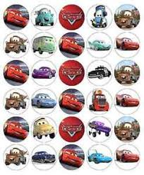 cars cake toppers 30x disney cars lightning mcqueen cupcake toppers edible paper