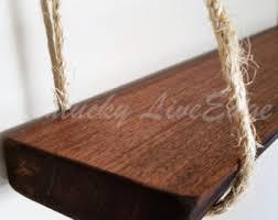 Live Edge Wood Shelves by Natural Wood Shelf Live Edge Shelf Hanging Shelf Mahogany
