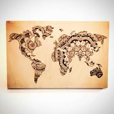 Etsy World Map by 12