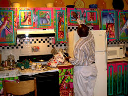 colorful painted kitchen cabinets ideas painted kitchen cabinets