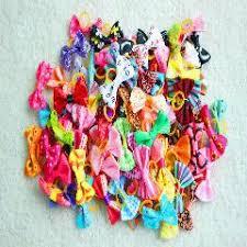 wholesale hair bows 200pcs new various style pet dog bows pet hair bows rubber bands
