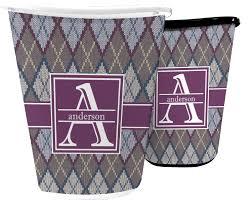 knit argyle waste basket personalized potty concepts