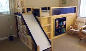 Bunk Bed With Slide Ikea Hack Bed Slide Secret Room Diy