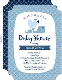 whale baby shower invitations boy baby shower invitations
