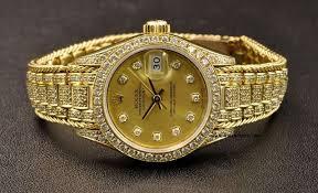 rolex bracelet diamonds images Rolex 18k y g diamond dial bezel bracelet ladies datejust 69158 jpg