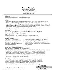 Sample Objectives In Resume For Service Crew by Sample Resume Food Service Food And Restaurant Resume Formatting