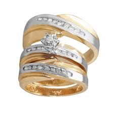 Trio Wedding Ring Sets by 20 Latest His And Hers Trio Wedding Ring Sets 3 8 Carat T W