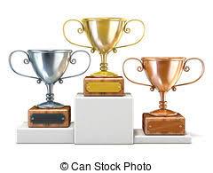 Trophy Pedestal Clip Art Of Gold Silver And Bronze Trophy Cups On Pedestal Gold