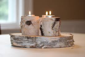 white birch candle tea light holders michigan studio