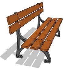 3d Bench Banc Park Bench 3d Model Formfonts 3d Models U0026 Textures