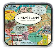 Vintage Maps Amazon Com Cavallini Decorative Stickers Vintage Maps Assorted