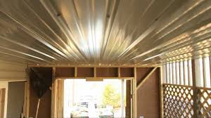 Covered Porch Ceiling Material by Cheap Under Deck Ceiling Youtube