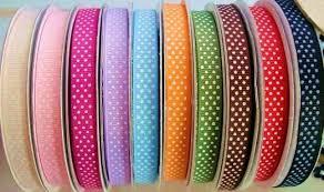 polka dot grosgrain ribbon embellishment world ribbon wholesale by spool 1 roll 25