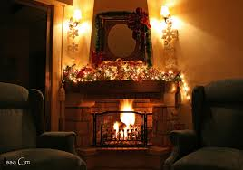 Lighted Christmas Decorations by Decorations Graceful Christmas Fireplace Decoration Idea Feature