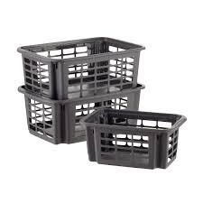 Large Basket For Storing Throw Pillows Bins U0026 Baskets Plastic Storage Bins Plastic Baskets U0026 Metal