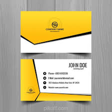 Business Card Backgrounds Free Download Ai Yellow Geometric Business Card Template Vector Free Download