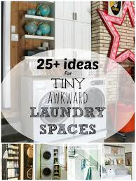 small laundry room storage ideas remodelaholic 25 ideas for small laundry spaces