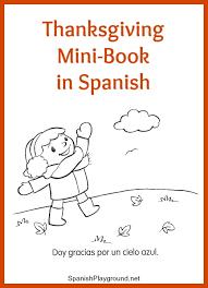 thanksgiving minibook from monarca playground