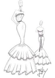 pictures how to sketch dress designs drawing art gallery