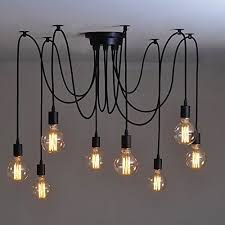 Chandeliers With Lamp Shades Industrial Lighting Cage Light Chandelier Black With Reclaimed