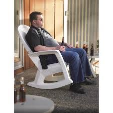 white outdoor rocking chair u2014 600 lb capacity www kotulas com