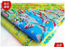 silk peacock home decor cross stitch silk cotton thread needlework accurate printed cross