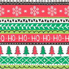 christmas pattern red green christmas xmas stripes snowflakes trees red green fabric