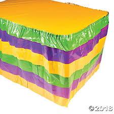mardi gras skirt gras ruffle table skirt